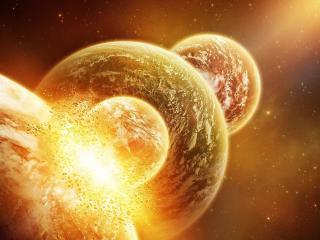 обои Парад планет в космическом пространстве фото