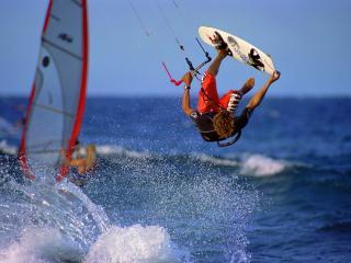 обои Серфингист и брызги воды фото