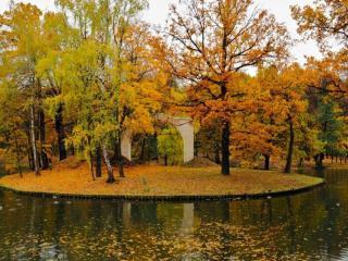 обои Осенний островок фото