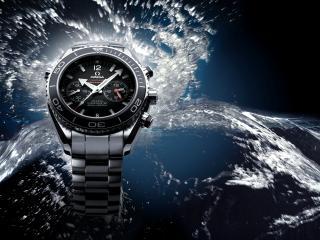 обои Часы OMEGA в воде фото