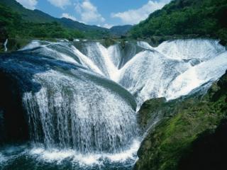 обои Водопад Жемчужина,   долина Цзючжайгоу,   Китай фото