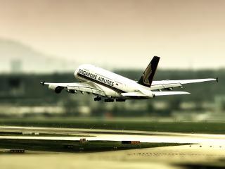 обои Самолет заходит на посадочную полосу фото
