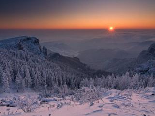 обои Начало зимы в горах фото