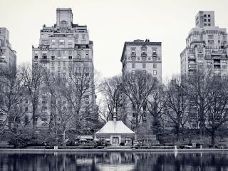 обои Вид серого города фото