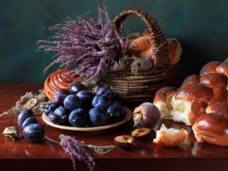 обои Натюрморт - Хлебно-фруктовый фото