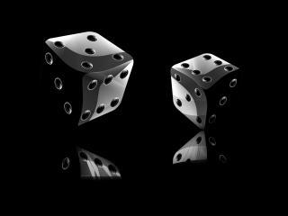 обои Две серых костяшки  на черном фоне фото