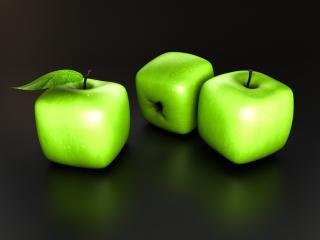 обои Зеленые яблочки квадратные фото