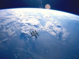 обои Космическая станция в космосе фото