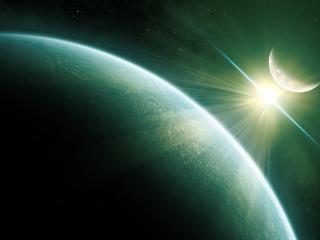 обои Свет в темноте космической фото