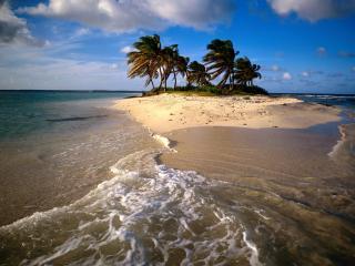 обои Островок в море фото