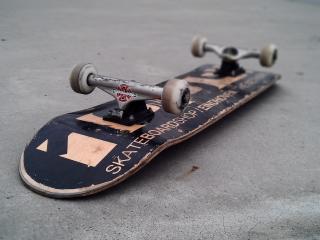 обои Перевернутый скейт фото