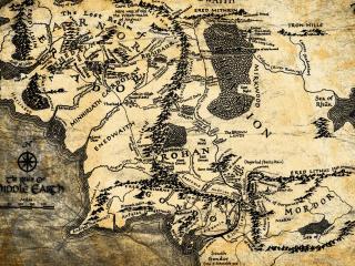 обои Старинная карта с обозначениями фото