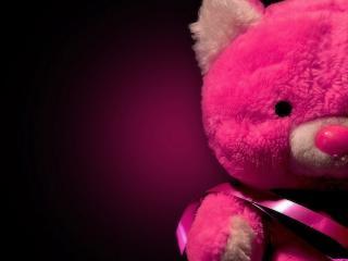 обои для рабочего стола: Розовый плюшевый мишка