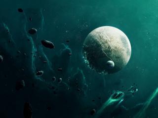 обои Планета,   космические камни в необьятной галлакте фото