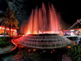 обои Светящийся фонтан фото