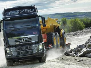 обои Вольво перевозит грузовой автомобиль фото