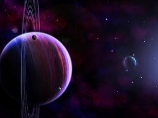 обои Планеты и блики,   свет космоса фото