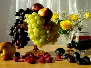 обои Натюрморт - Осенний, с вином фото