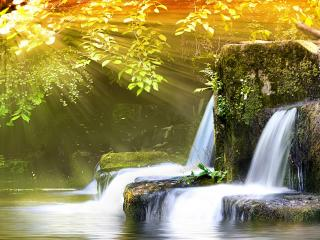 обои Ступень водопада фото