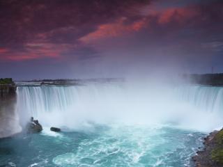 обои Туман от водопада фото