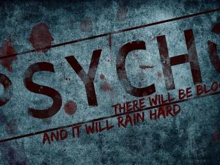 обои Надпись psycho на стене фото
