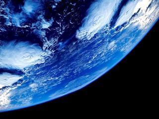 обои Голубой вид земли на темном фоне фото