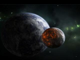 обои Две планеты фото