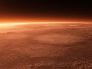 обои Горизонт неживой планеты фото