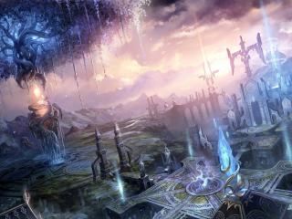 обои Рисунок мраморного города фото