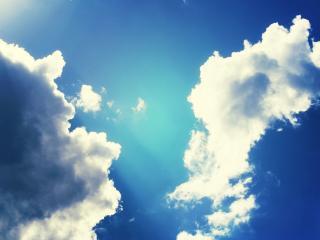 обои Рисунок облаков в синем небе фото