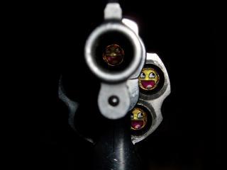обои Оружие заряженное смайлами фото