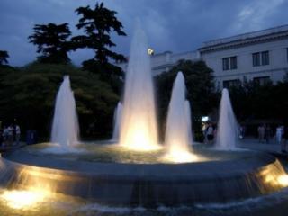 обои Вечерние фонтаны фото