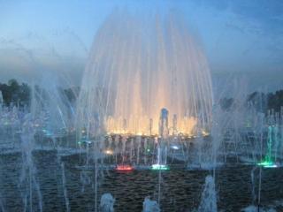 обои Утренний фонтан фото