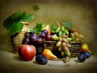 обои Натюрморт - Последние фрукты фото