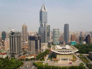 обои Разные формы зданий города фото