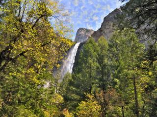 обои Спрятавшийся водопад фото