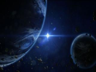 обои Две планеты и звезда фото