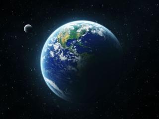обои Земля,   луна и звёзды фото