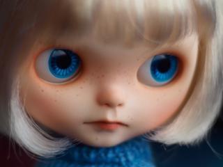 обои Голубоглазая кукла в свитере фото