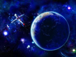 обои Земля,   вселенная и космический корабль фото