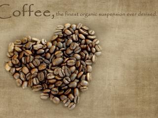 обои Сердце кофейное и надпись фото