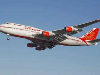 обои Самолет индийских авиалиний Boeing-747