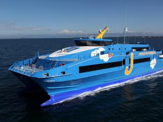 обои Голубая яхта liberty фото