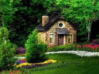 обои Дачный домик - Сказка фото