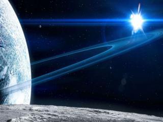 обои Две планеты и яркая звезда фото