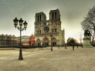 обои Фонари на европейской городской площади фото