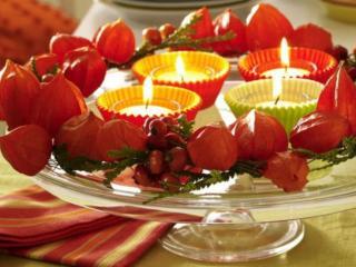 обои для рабочего стола: Встречаем осень свечами