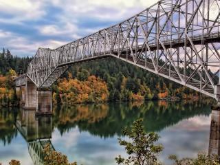 обои Металлическая конструкция моста фото