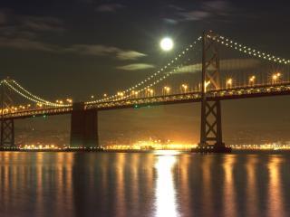 обои Полнолунье у моста фото