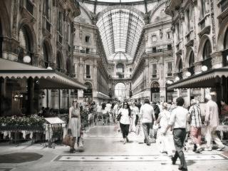 обои Пассаж итальянского города фото